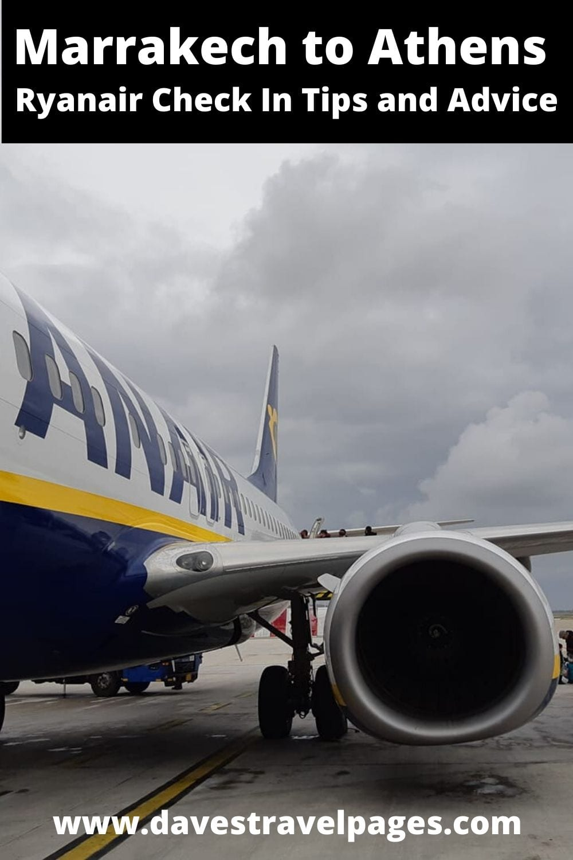 Marrakech to Athens Ryanair flight