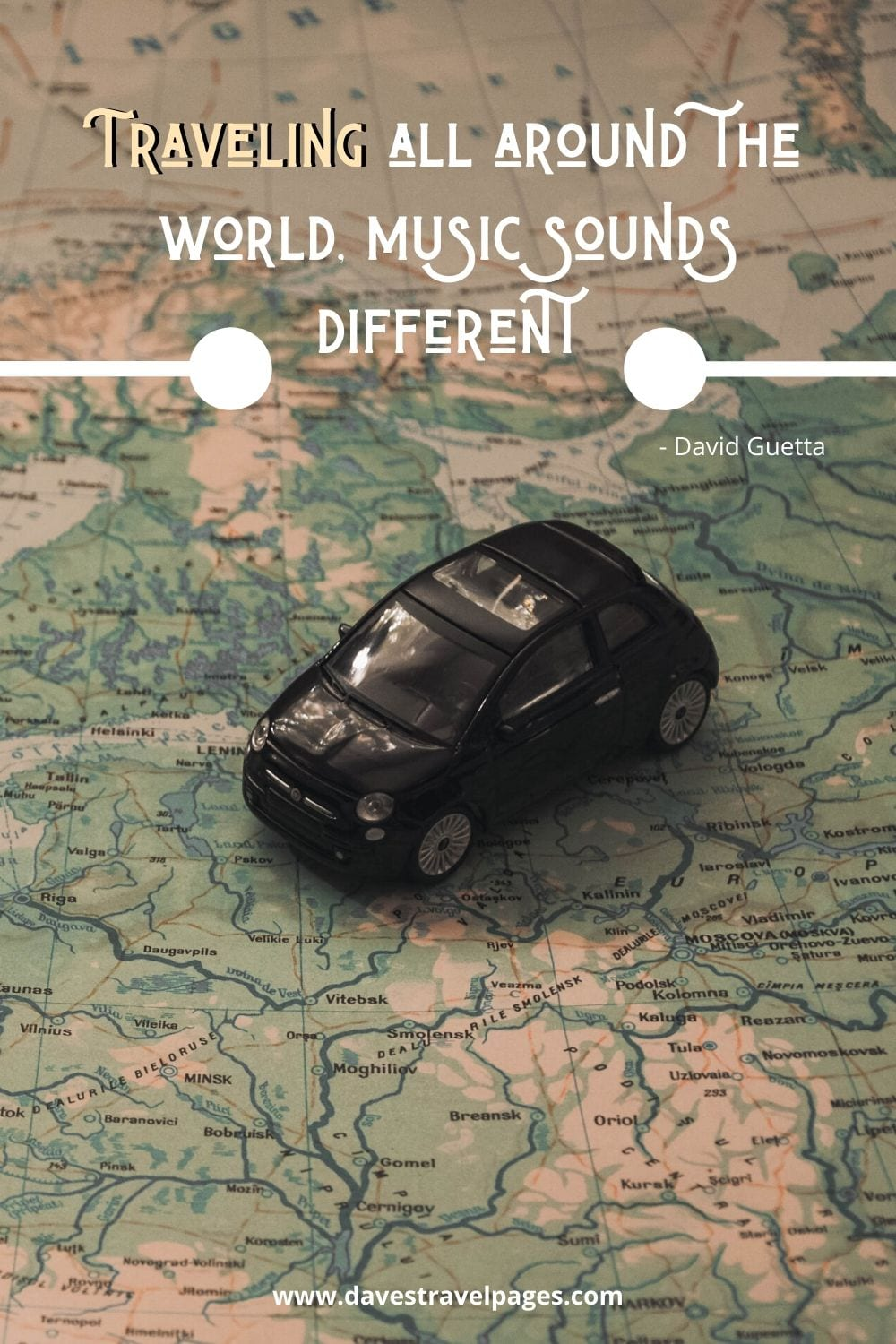 Traveling around the world quote: Traveling all around the world, music sounds different. David Guetta