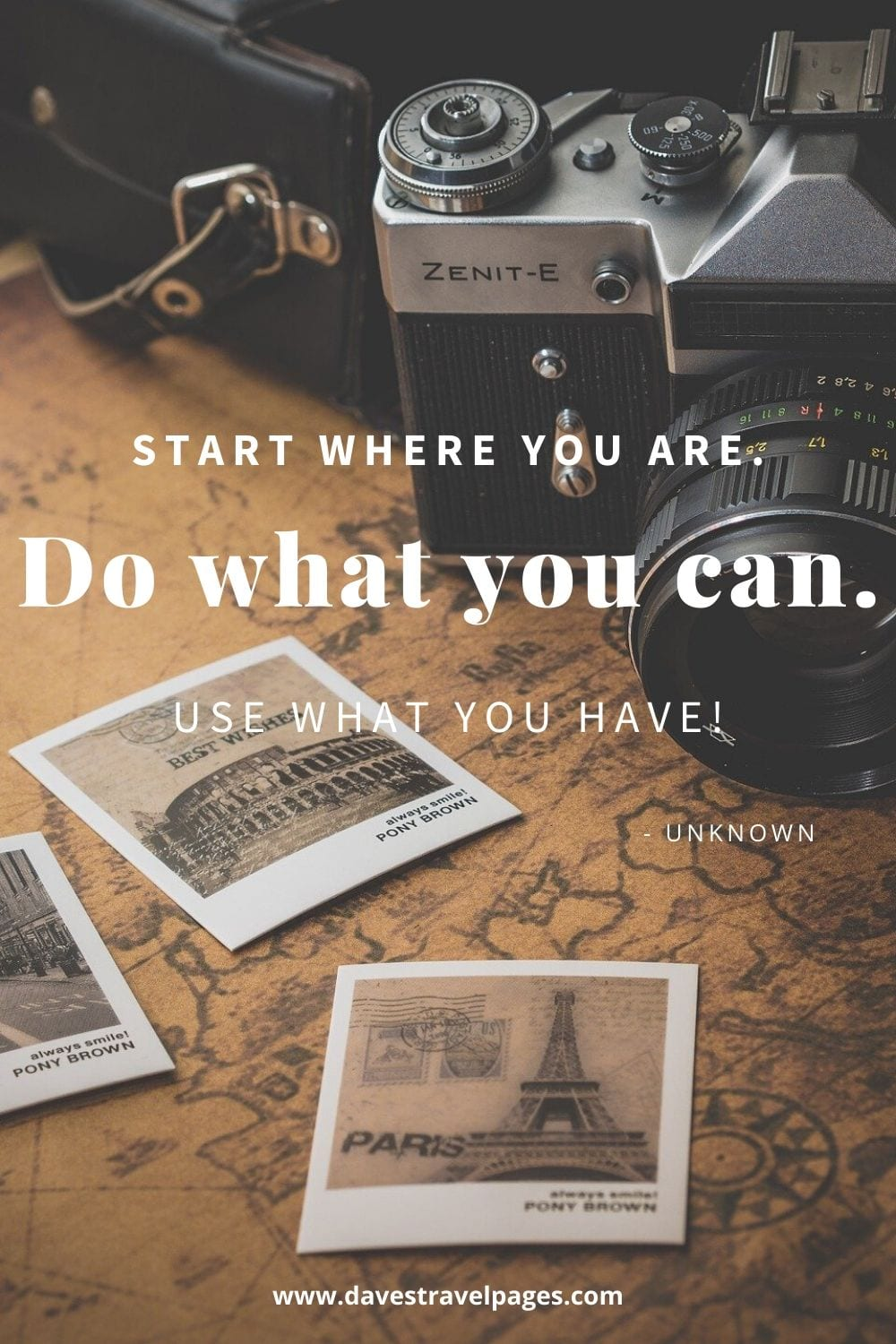 "Motivational Quotes: ""Start where you are. Do what you can. Use what you have!"""
