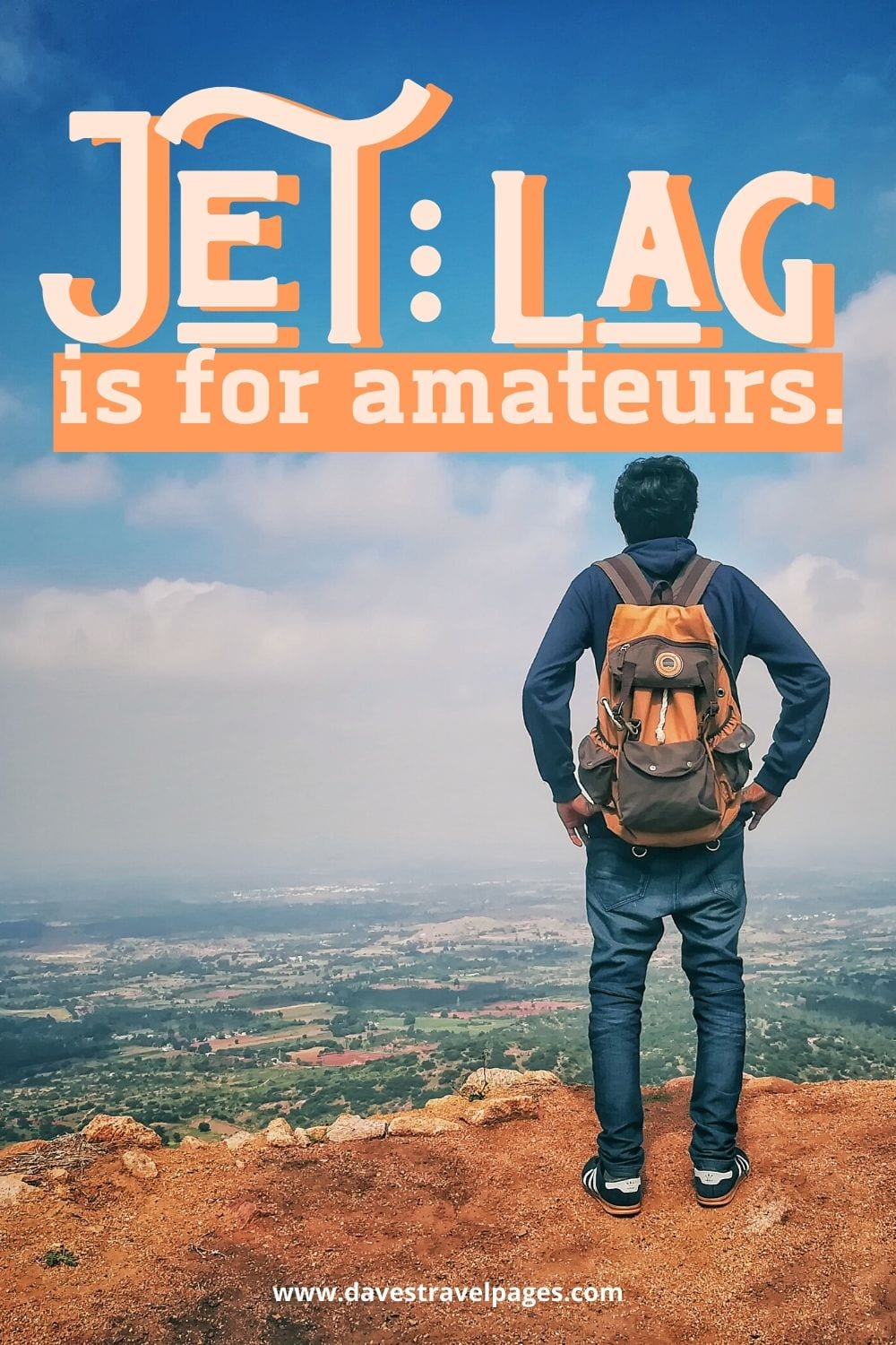 """Funny quotes about travel: """"Jet lag is for amateurs."""" – Dick Clark"""