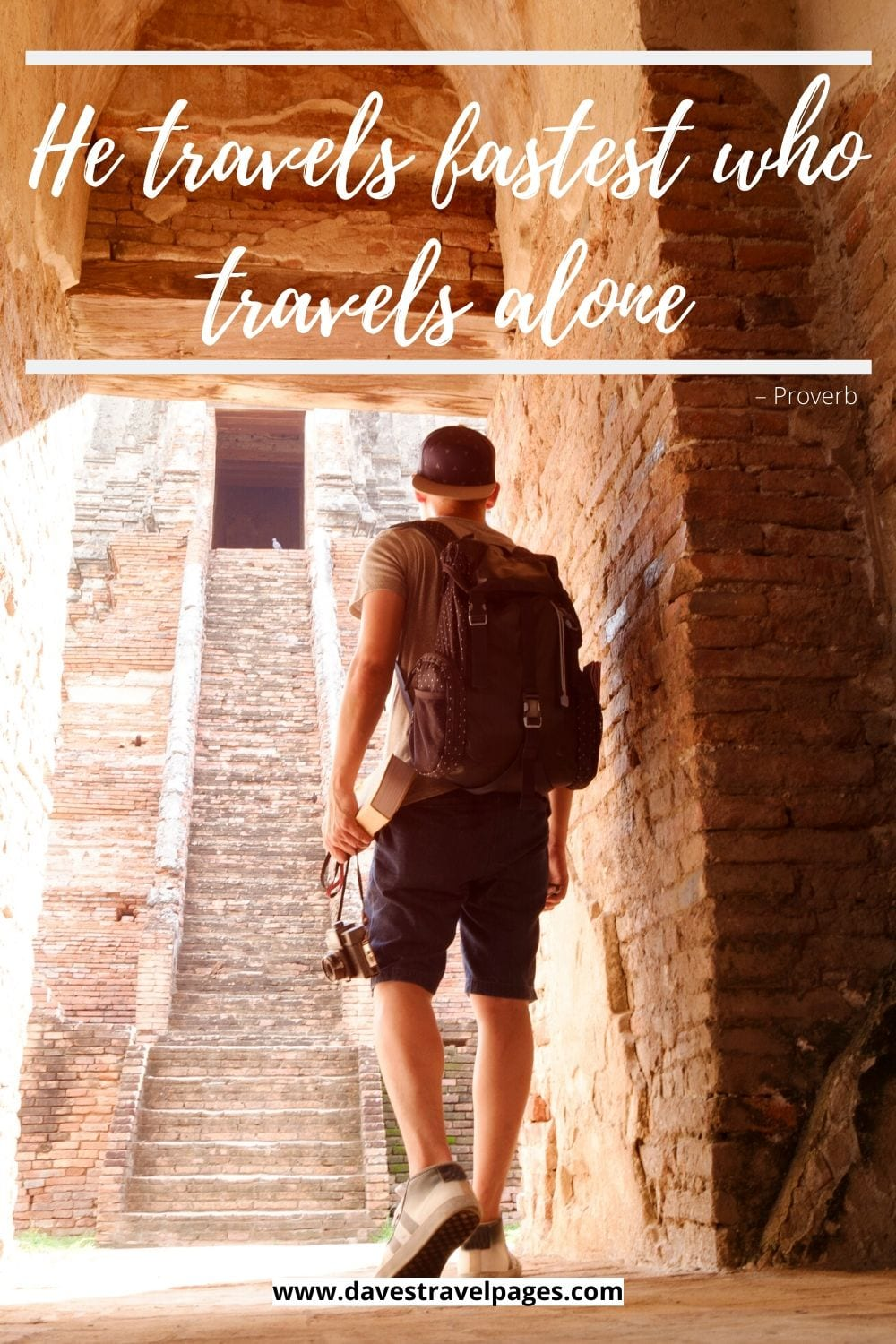 """Collection of Quotes in Travel: """"He travels fastest who travels alone."""" – Proverb"""