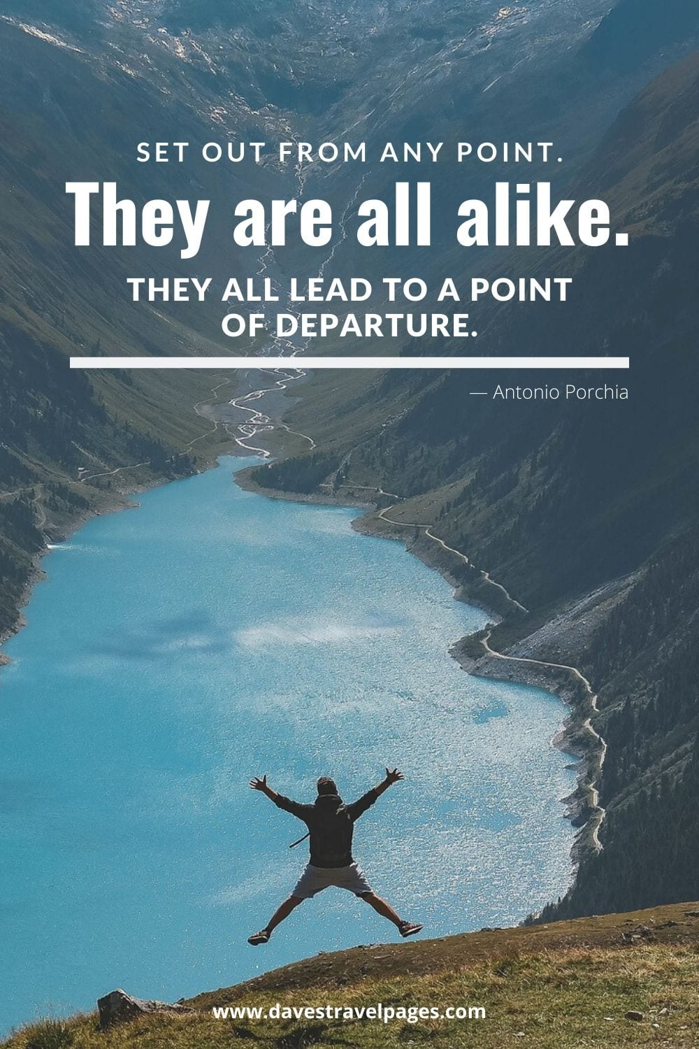 "Best travel captions - Set out from any point. They are all alike. They all lead to a point of departure.""― Antonio Porchia"