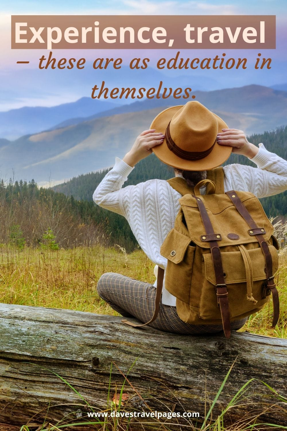 """Travel Captions: """"Experience, travel – these are as education in themselves."""" – Euripides"""