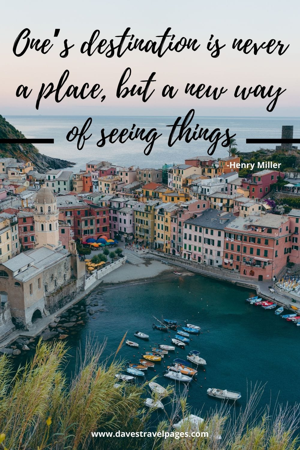 "Travel Quote: One's destination is never a place, but a new way of seeing things."" -Henry Miller"