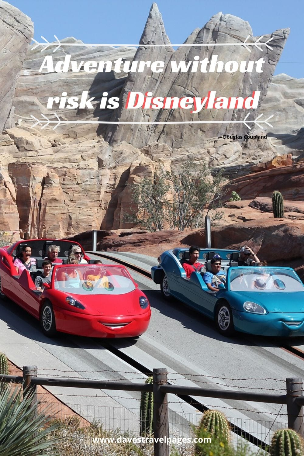 Funny Adventure Quotes - Adventure without risk is Disneyland. - Douglas Coupland