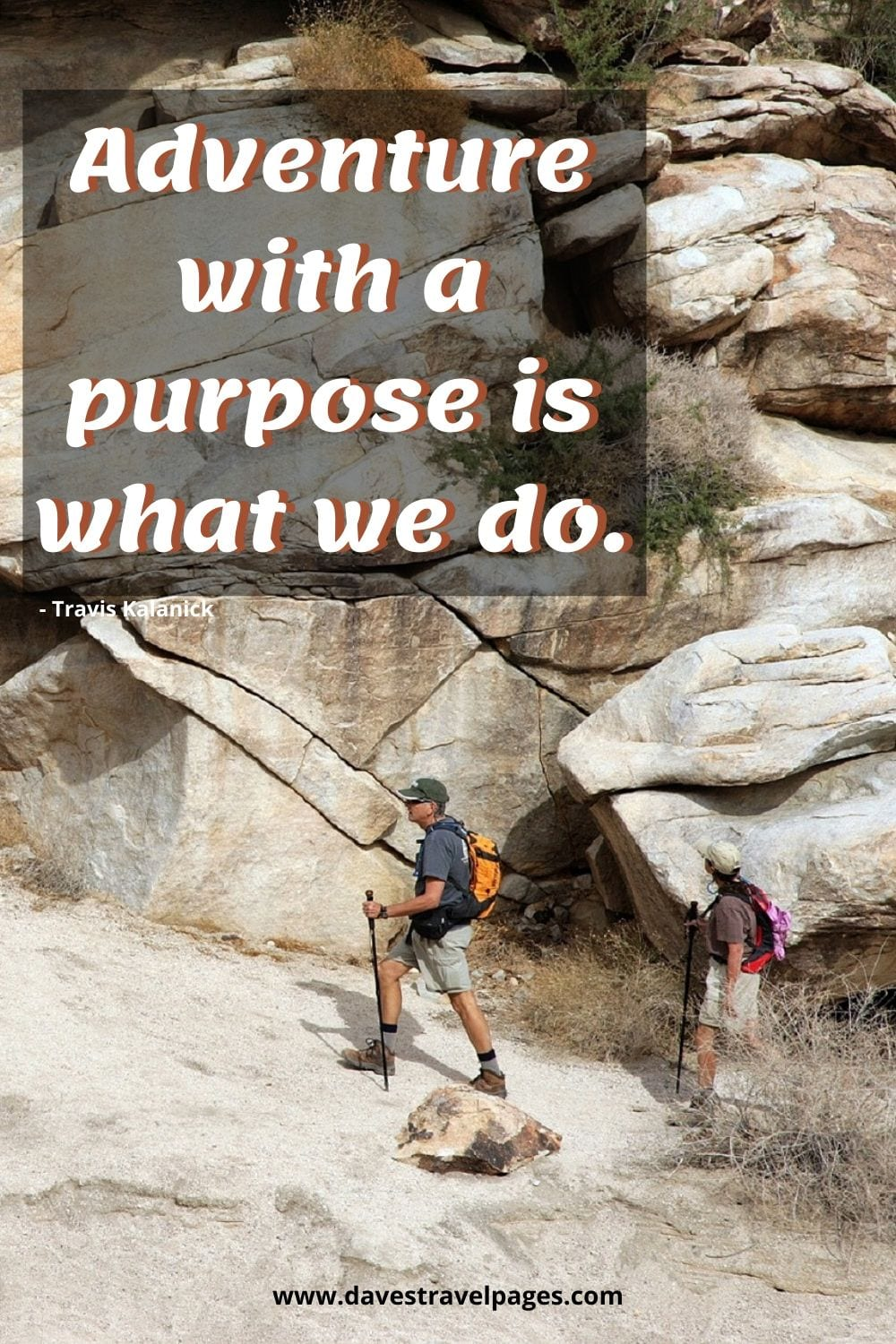 Adventure with a purpose is what we do - Quote by Travis Kalanick