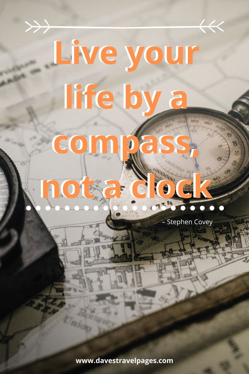 "Famous quotes: Live your life by a compass, not a clock."" – Stephen Covey"