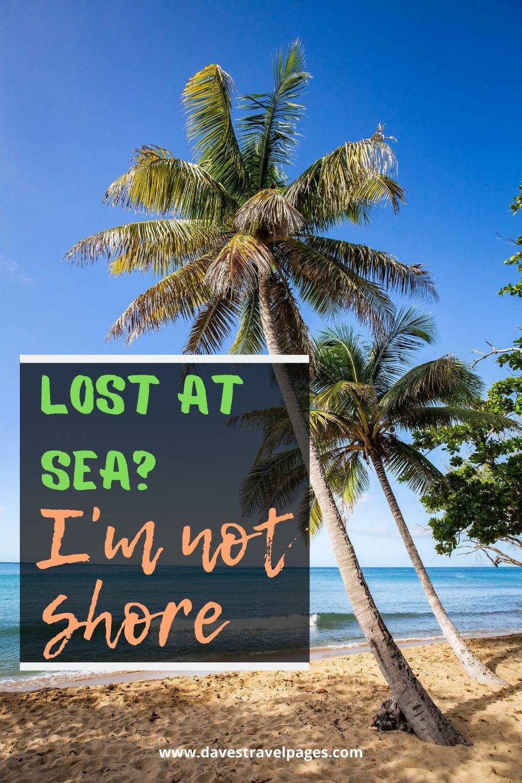 """""""Lost at sea? I'm not shore."""""""