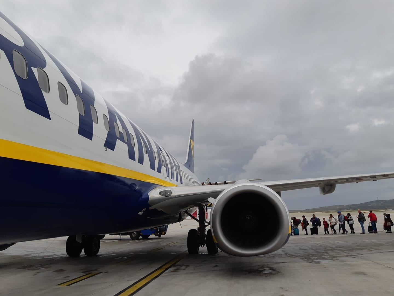 Ryanair Marrakech to Athens flight