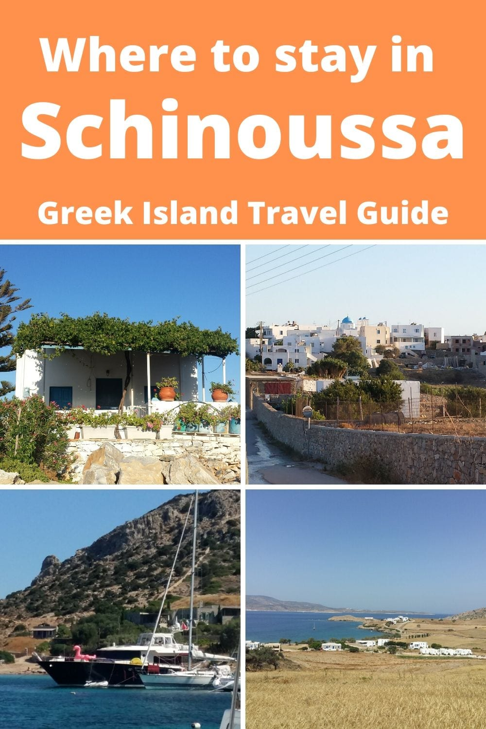 Where to stay in Schinoussa Island Greece