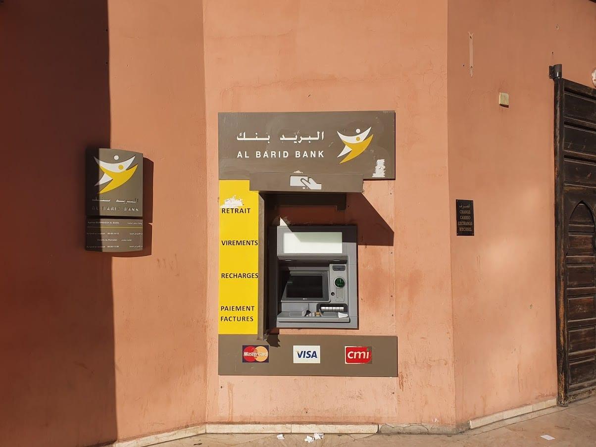 Using an ATM in Marrakech