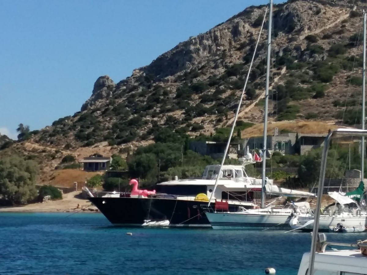 Boats in Schinoussa Greece