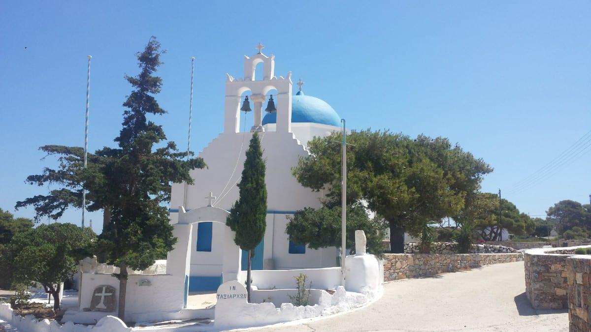 Church on Iraklia island in Greece