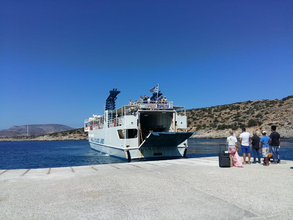The Iraklia island ferry