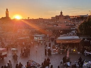 Jemaa el-Fna square in Marrakech Morocco