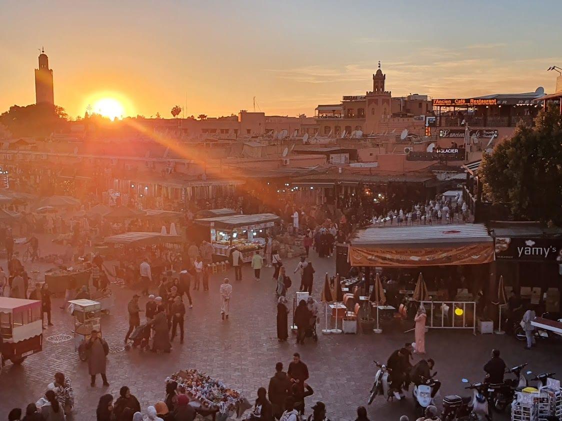 Jemaa el-Fna square in Marrakech Morocco