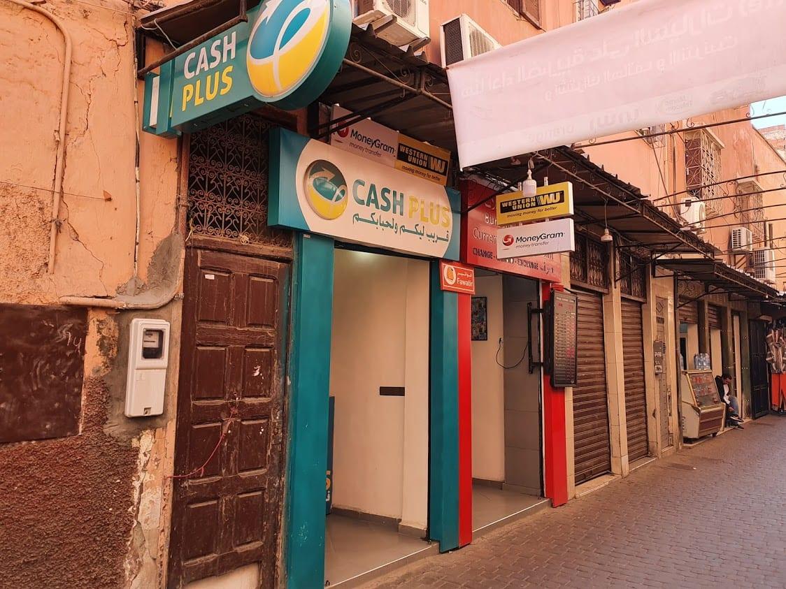 Money exchange in Marrakech Medina