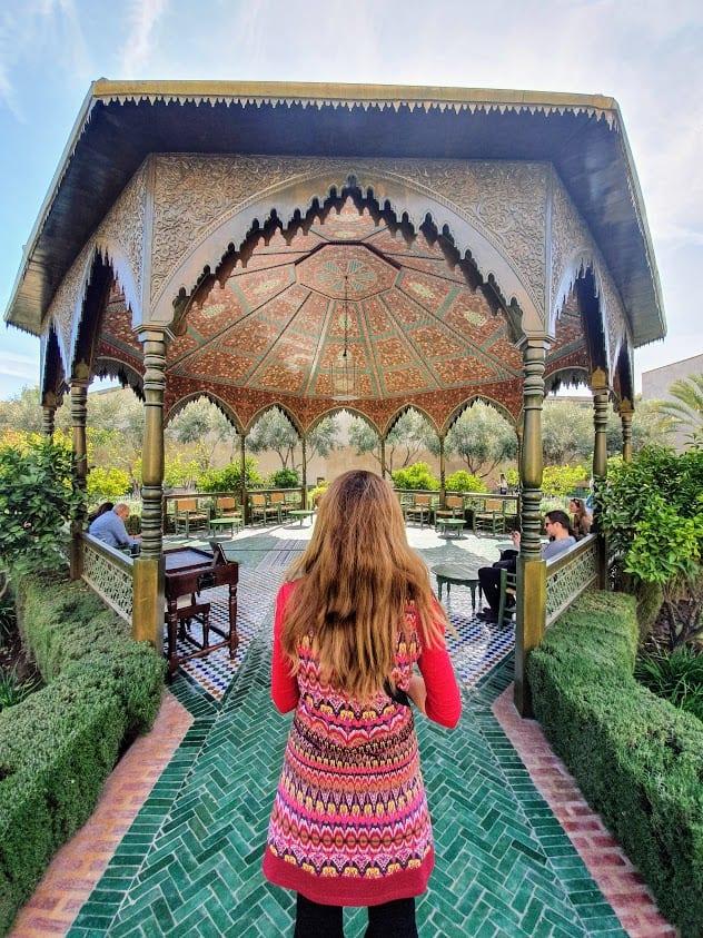 Secret garden in Marrakech Morocco