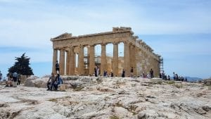The Parthenon of Athens Greece