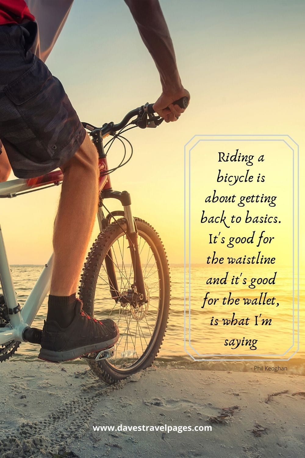 Bicycle riding quotes - Riding a bicycle is about getting back to basics. It's good for the waistline and it's good for the wallet, is what I'm saying. Phil Keoghan
