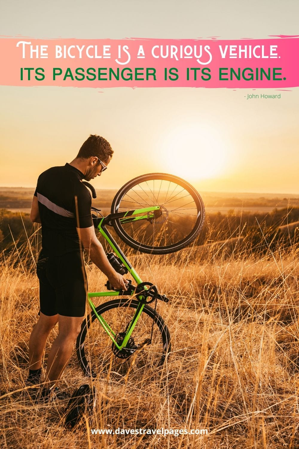 Cycle quote - The bicycle is a curious vehicle. Its passenger is its engine. ~ John Howard