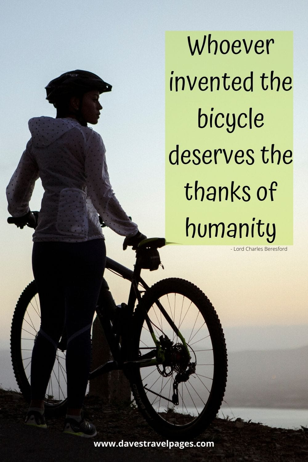 Quotes about Inventions - Whoever invented the bicycle deserves the thanks of humanity. ~ Lord Charles Beresford