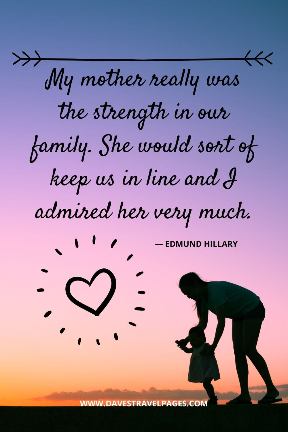 "Edmund Hillary Quotes: ""My mother really was the strength in our family. She would sort of keep us in line and I admired her very much."""