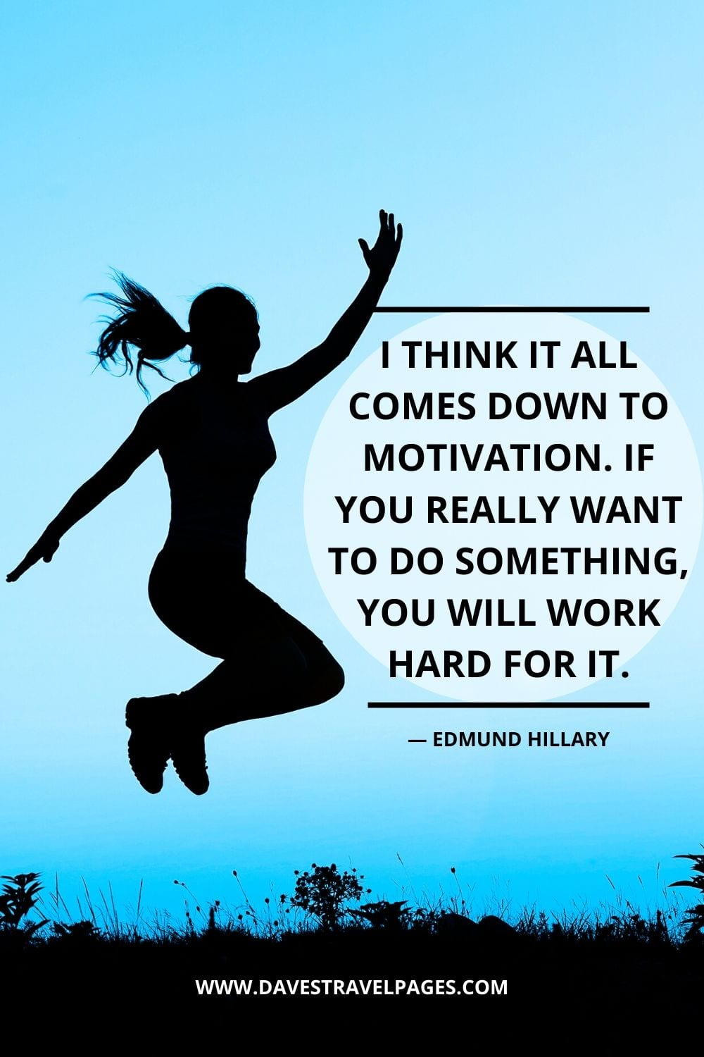 "Quotes by Edmund Hillary: ""I think it all comes down to motivation. If you really want to do something, you will work hard for it."""
