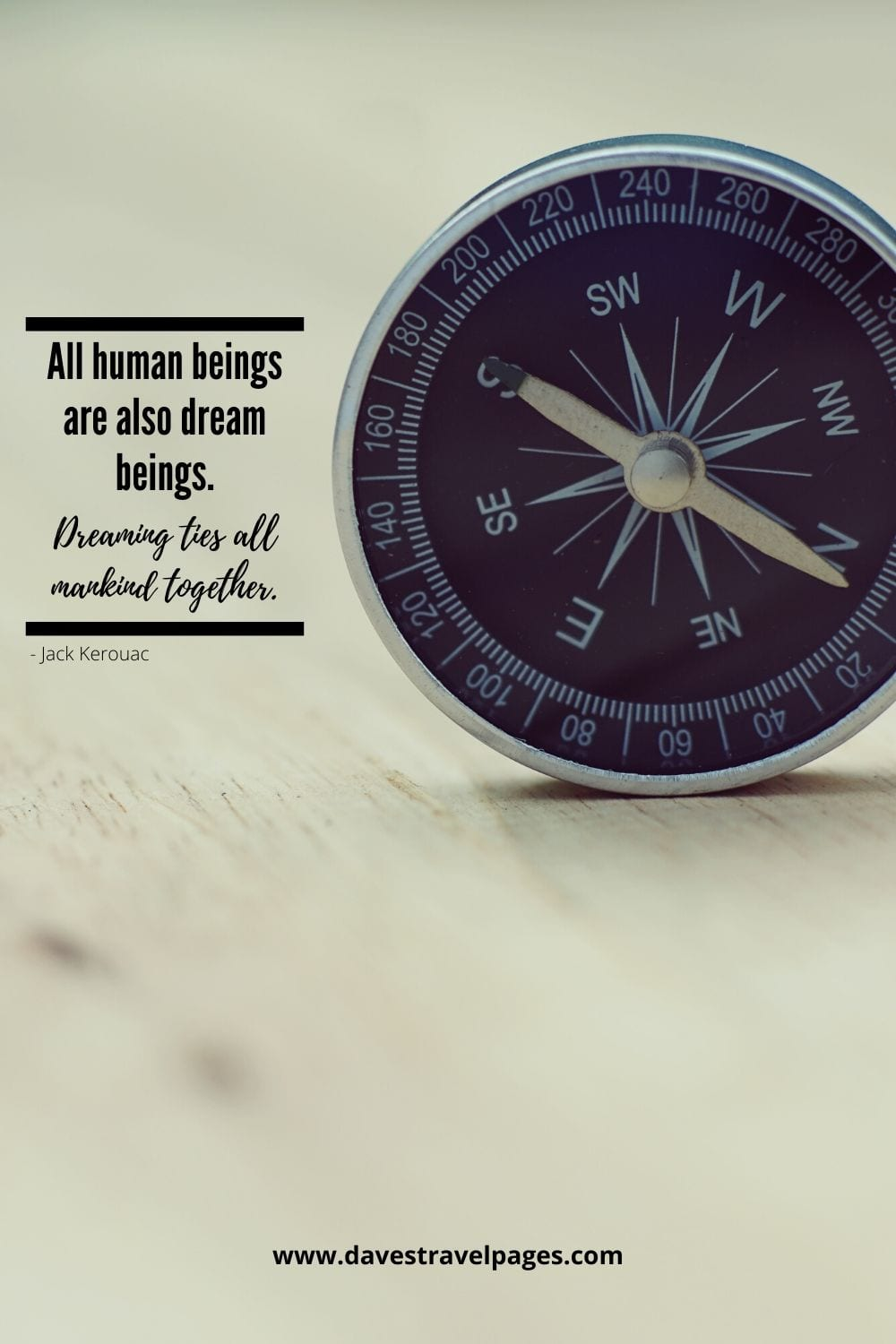 "Inspirational Quote by Jack Kerouac: ""All human beings are also dream beings. Dreaming ties all mankind together."""