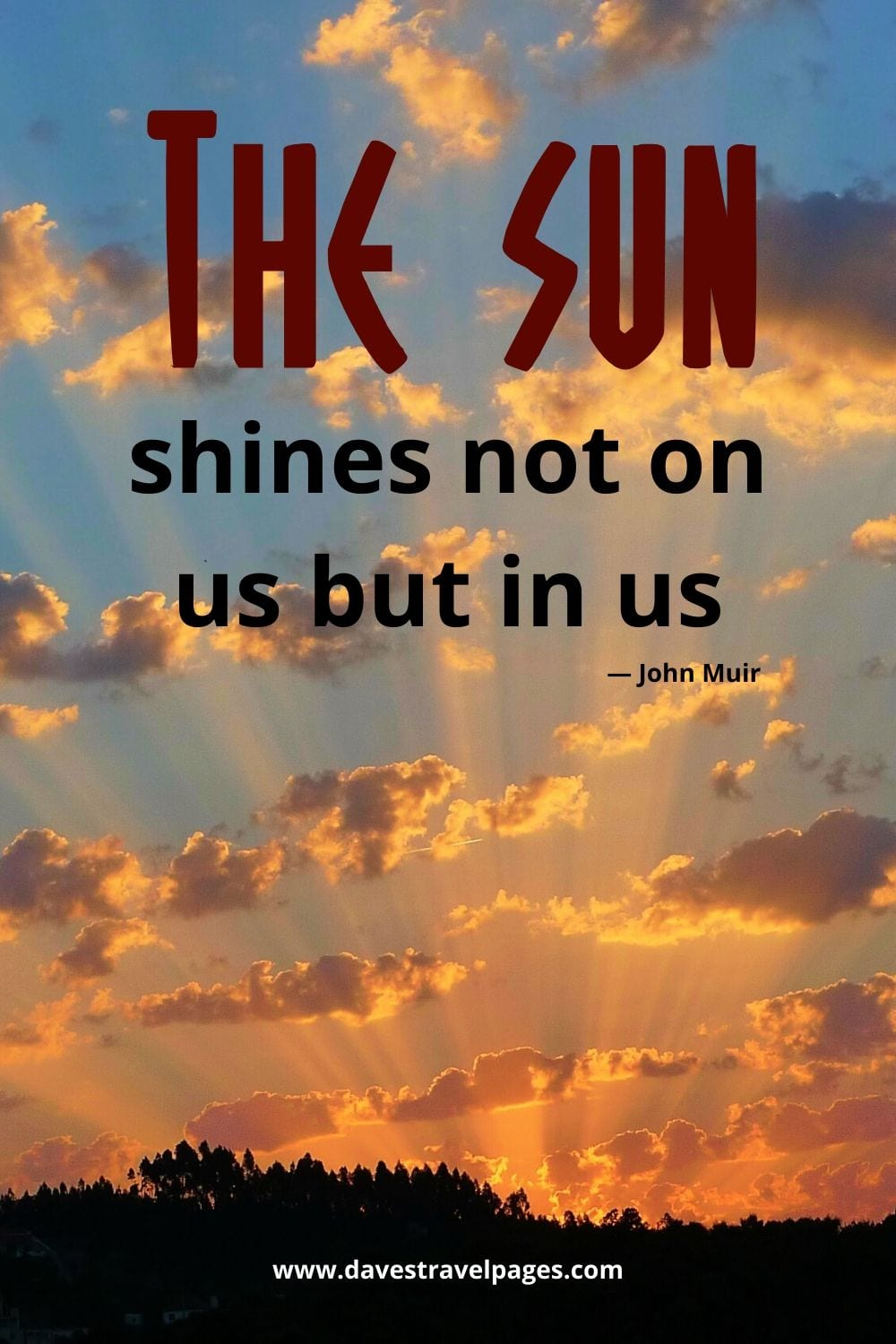 """John Muir Quotes - """"The sun shines not on us but in us."""""""