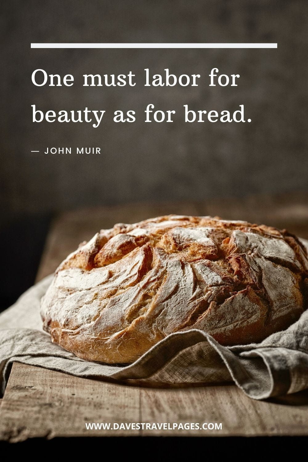 """John Muir Quotes - """"One must labor for beauty as for bread."""""""