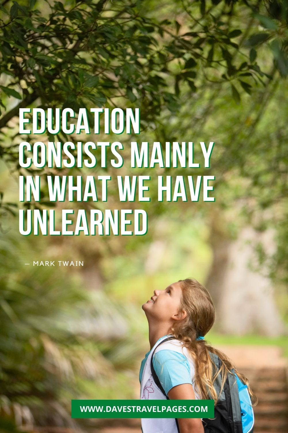 "Mark Twain on education - ""Education consists mainly in what we have unlearned."""