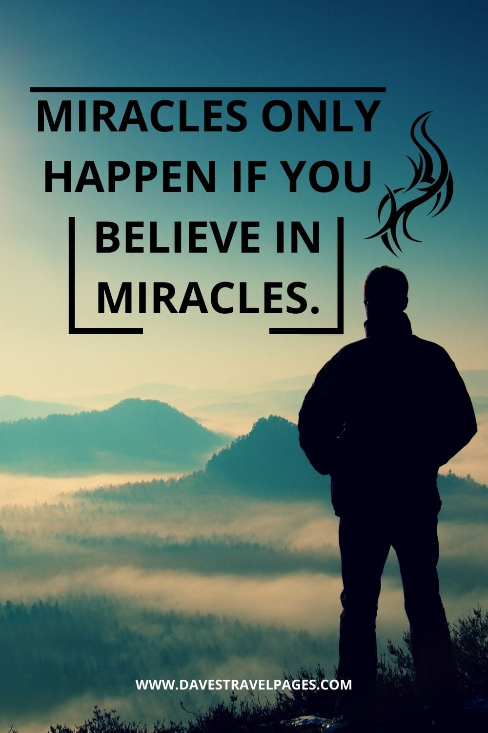 "Quote of the day: ""Miracles only happen if you believe in miracles."" – Paulo Coelho"