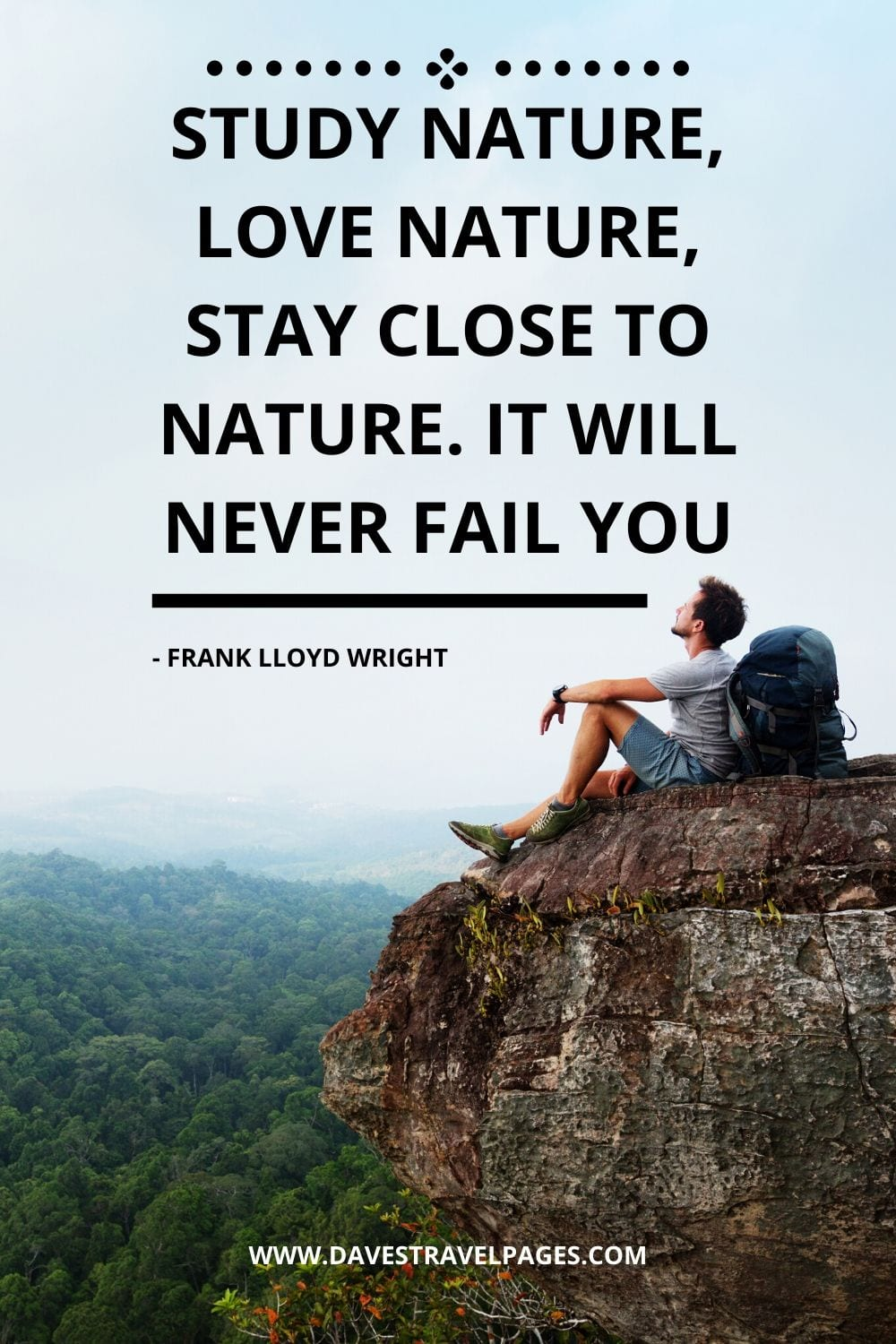 Quotes about nature: Study nature, love nature, stay close to nature. It will never fail you - Frank Lloyd Wright