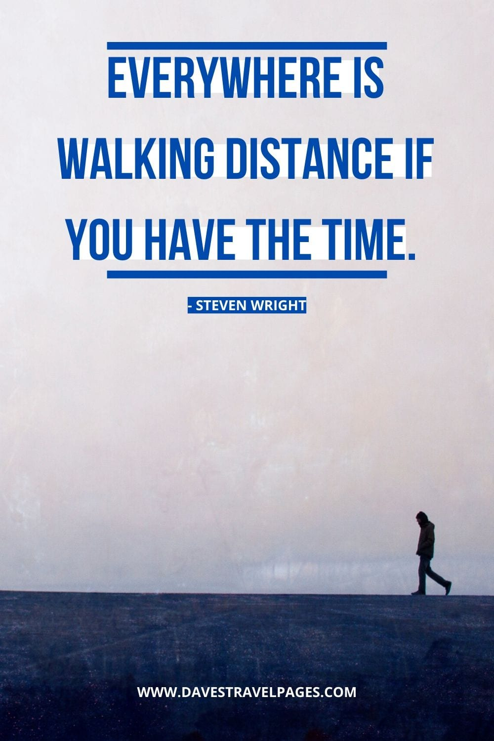 Walk with me quotes: Everywhere is walking distance if you have the time. - Steven Wright