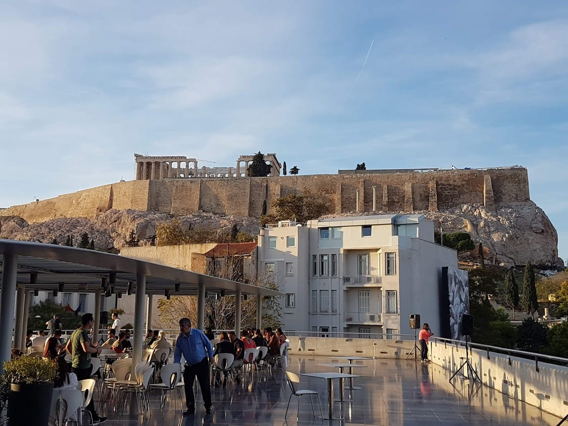 The Acropolis in October in Athens