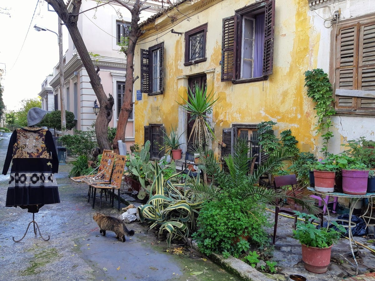 Strolling through the streets of Plaka in Athens