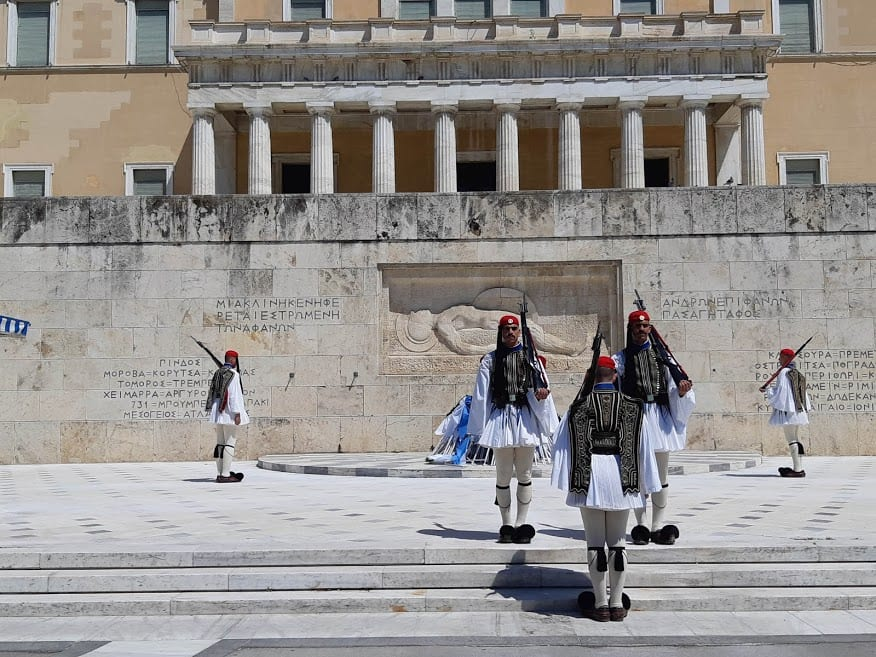 The changing of the guard at Syntagma Square