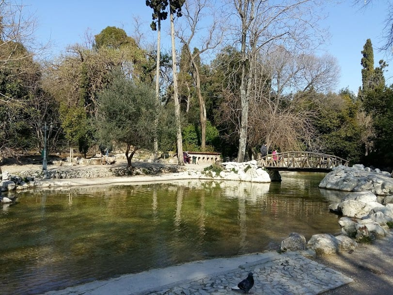 The Lake at the Botanical Gardens in Athens Greece