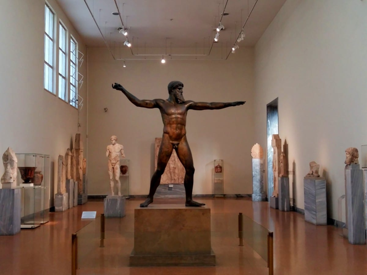 Inside the National Archaeological Museum of Athens