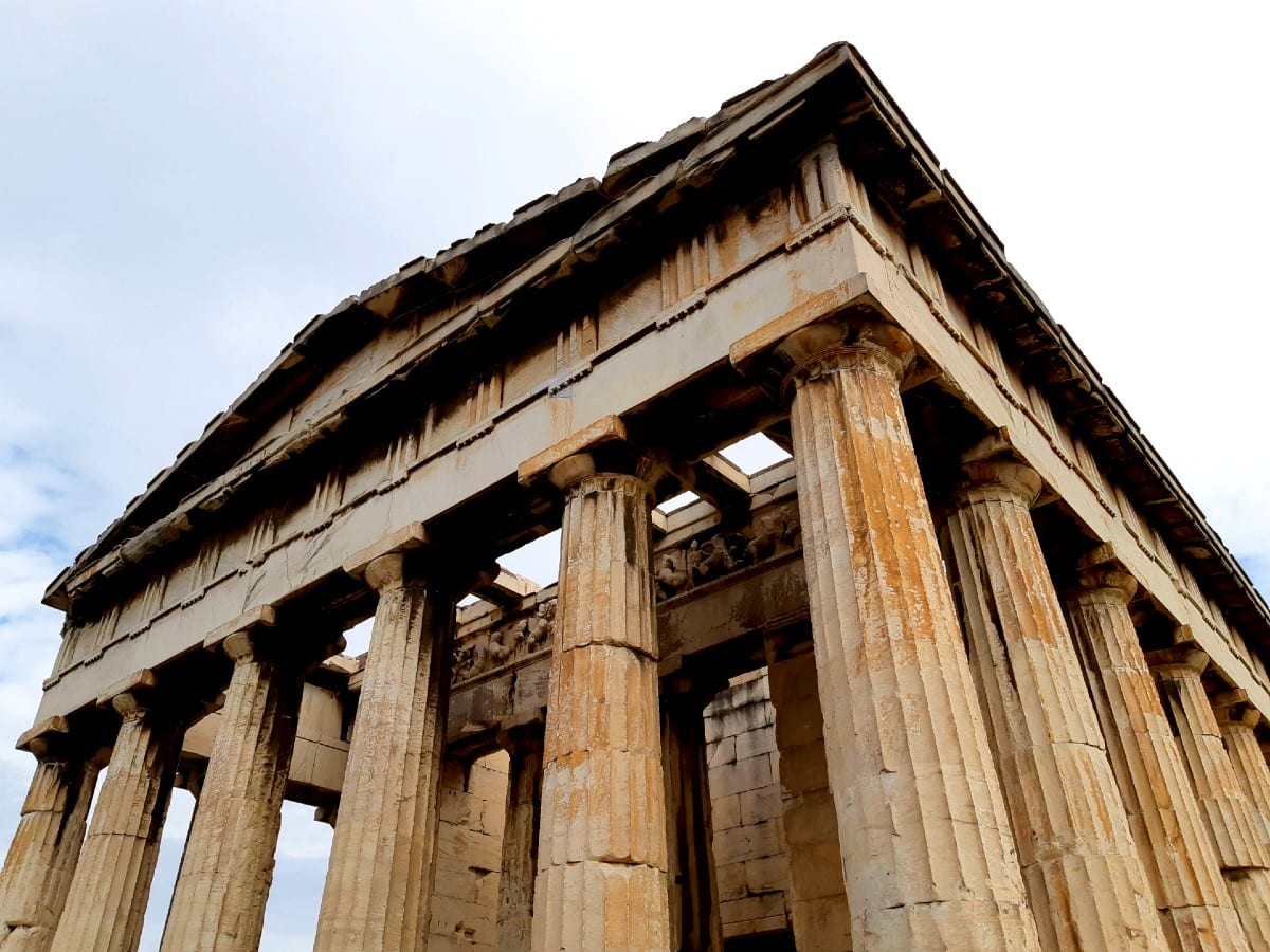 The temple inside the Agora of Athens
