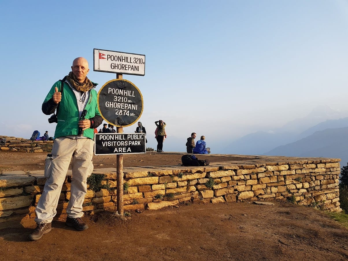 Dave Briggs hiked to Poon Hill in Nepal