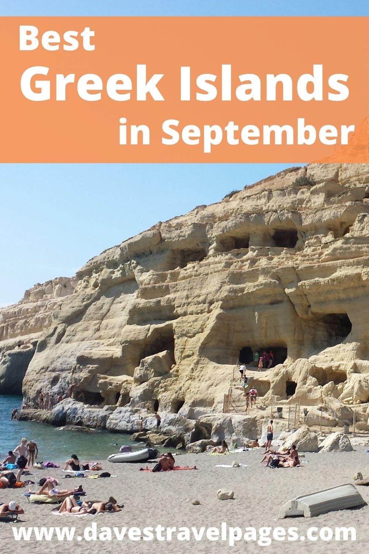 Best Greek Islands to visit in September