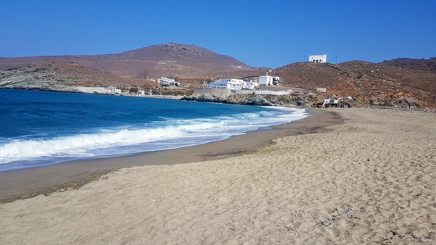 Perfect beach weather on the Greek islands in September