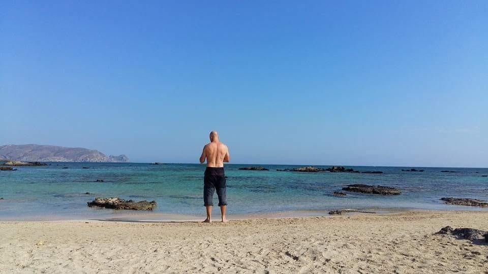 A beach in Crete in December