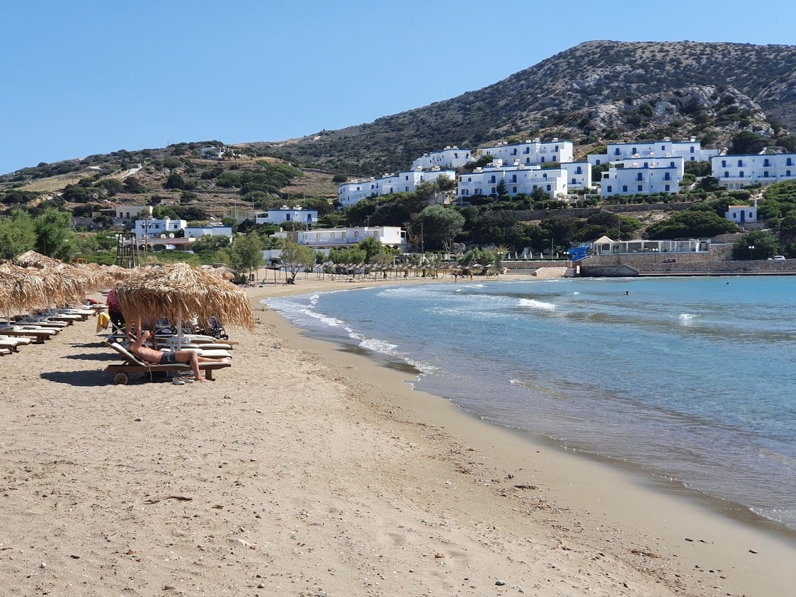 One of the beaches in Syros