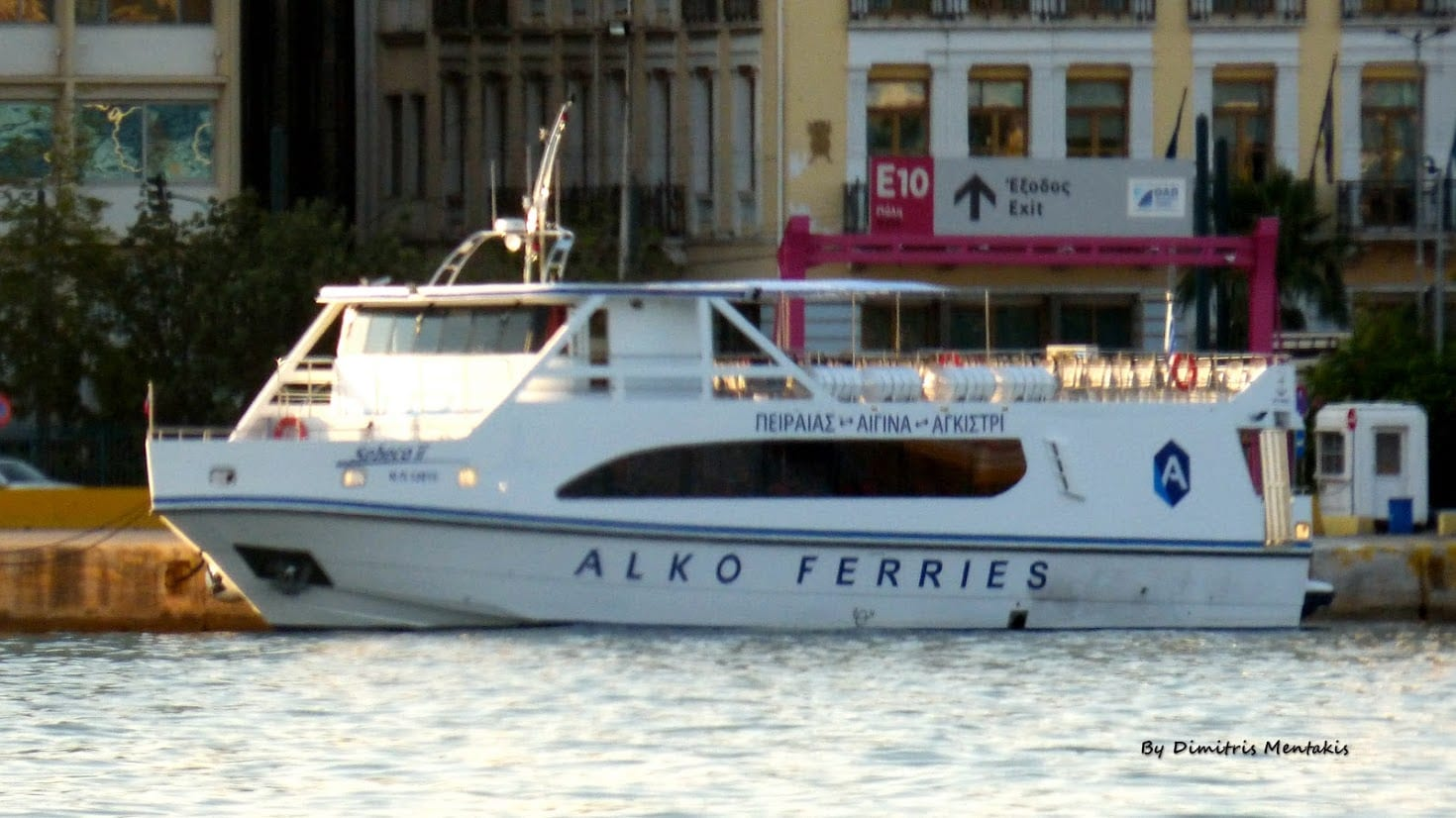 The tiny Alko Ferries vessel