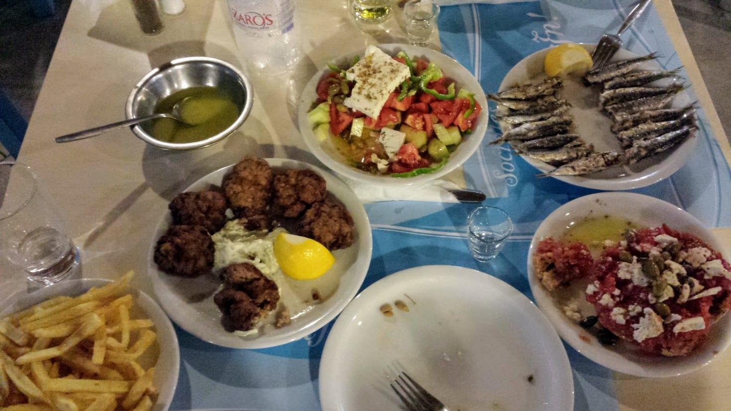 Sampling the authentic cuisine in Crete