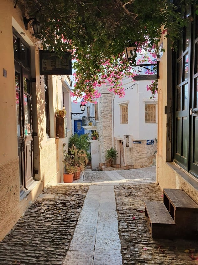 Exploring the town of Anos Syros in Cylades Island of Syros