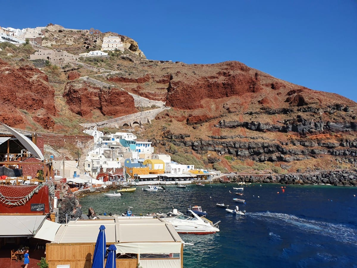 Ammoudi Bay in Santorini has some great fish tavernas to eat at